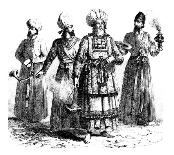 A depiction of the Jewish priests